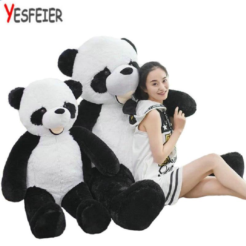 CHAUDE 130 cm en peluche panda En Peluche Jouets grand animial En Peluche en peluche Panda Poupée d'anniversaire cadeaux De Noël cadeaux jouets en peluche poupée