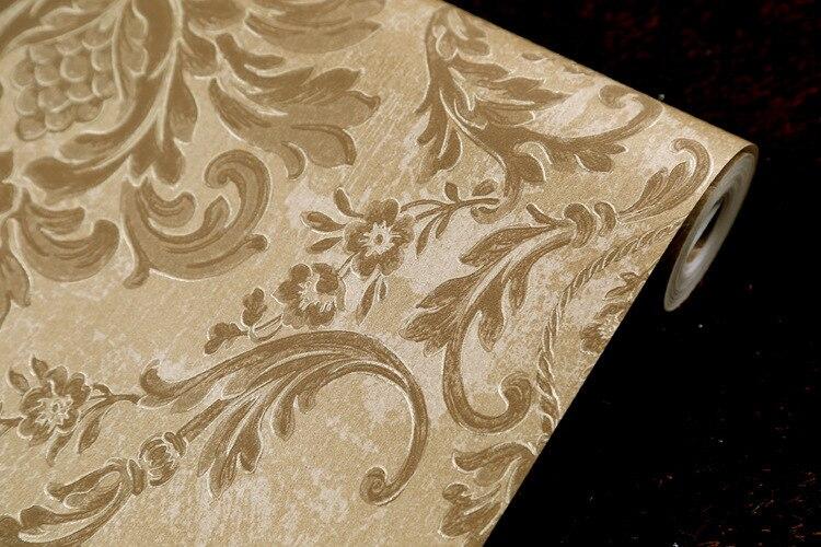ФОТО beibehang papel de parede Ya retro series non woven wallpaper retro European luxury living room bedroom wallpaper backdrop