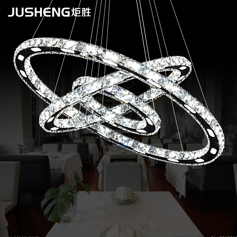 Ju Sheng LED crystal chandelier simple modern dining room three bedroom lamp head lamps lighting personality сумка для мамы ju ju be be light onyx black beauty