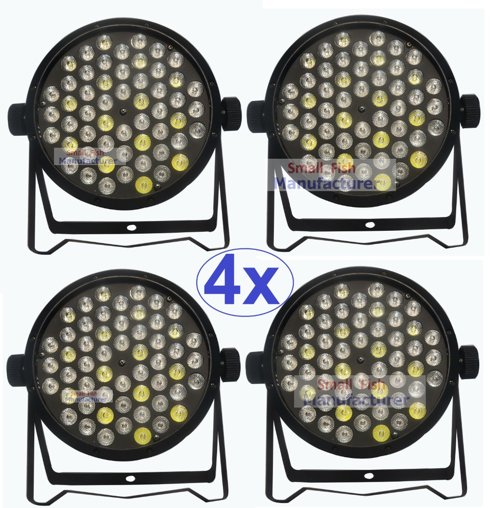 4Pcs/Lot High Quality LED Par Cans 54X3W Beam Wash DMX Par Lights American Dj RGBW 4IN1 Dj Disco LED Flat Par Lights 2017 factory price big discount 180w high power led par light 54x3w rgbw single color led flat par lights 90 240v new design