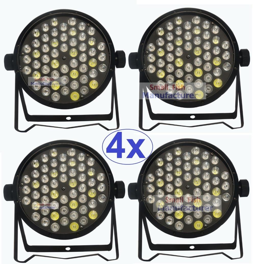 4Pcs/Lot High Quality LED Par Cans 54X3W Beam Wash DMX Par Lights American Dj RGBW 4IN1 Dj Disco LED Flat Par Lights
