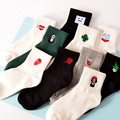 80% Cotton Harajuku Socks for Women Ulzzang Calcetines Black White Japanese Socks