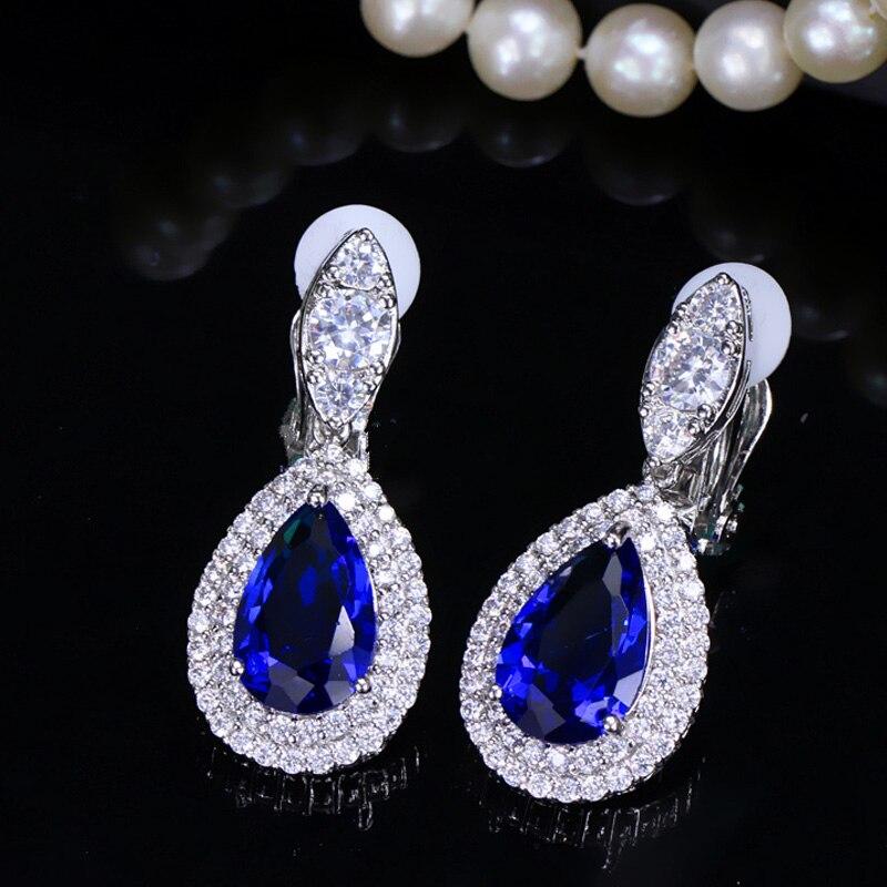 blue clip earrings