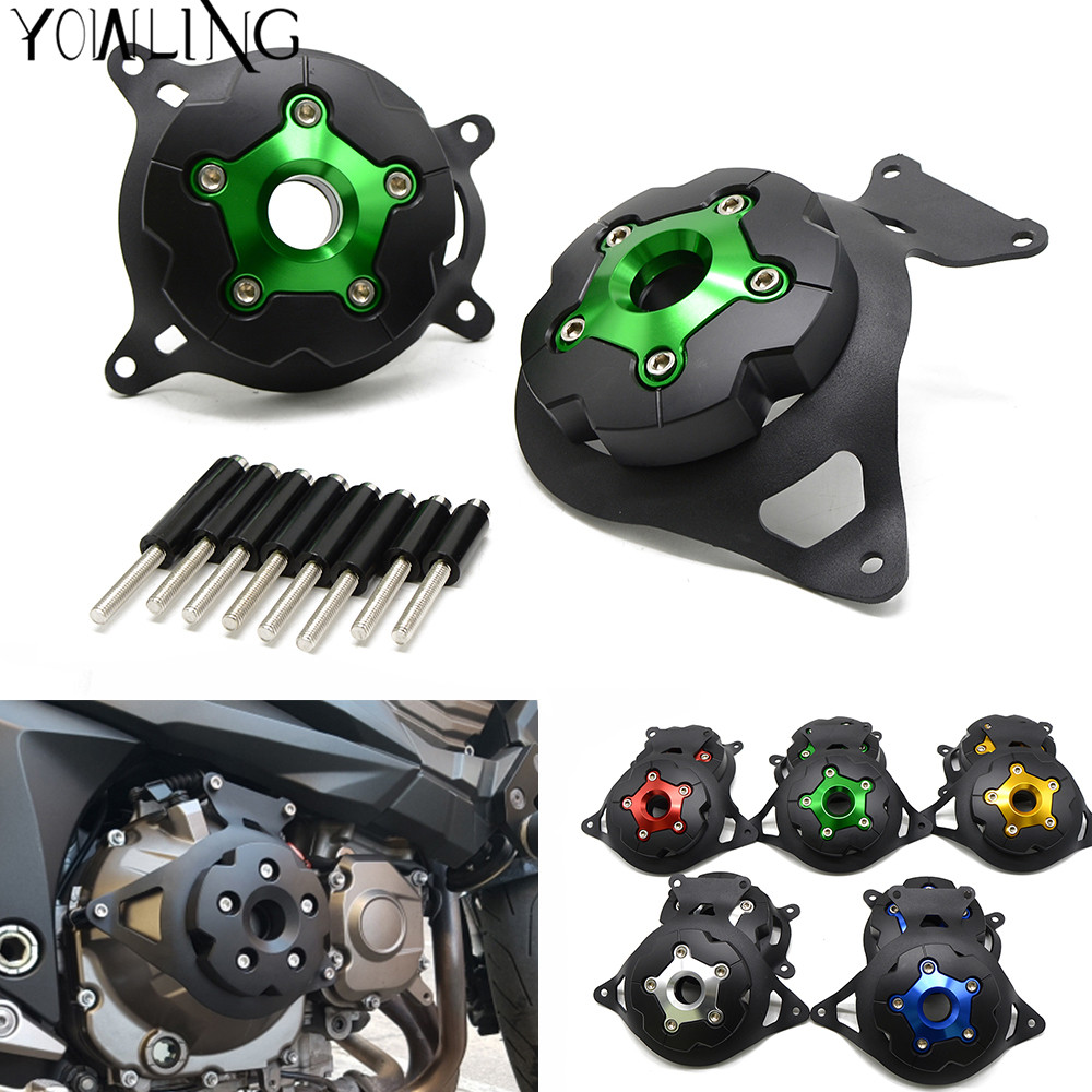 Motorcycle Engine Stator Cover Engine Guard Protection Side Shield Protector For Kawasaki Z750 Z800 2013 - 2017 Z 750 800 13-17 motorcycle cnc aluminum engine crankcase slider engine cover saver protection side shield for kawasaki z800 z750 2013 2016