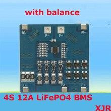 4S 12A 12.8 V LiFePO4 BMS/PCM/PCB לוח מעגל הגנה הסוללה עבור 4 חבילות 18650 תא סוללה w/איזון