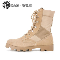Combat Boots Men Women Leisure High Top Ankle Boots Female Military Leather Boots Unisex Tactical Desert Boots Outdoor Footwear