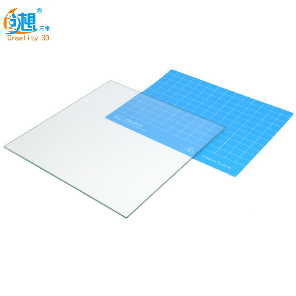Creality 3D Printer Parts Glass Plate Large Size 310/410/510MM Borosilicate Glass Build Glass Plate For Creality CR-10/10S/S4/S5 3 d printer accessory parts mk replicator 2 glass build upgrade plate build plate for replicator 2 3d printer