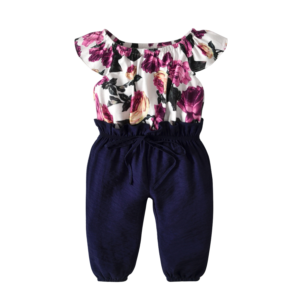 Toddler Girls Kids Floral Overall   Romper   Jumpsuit Long Pants Summer One-Piece Outfit Clothes 1-7Y