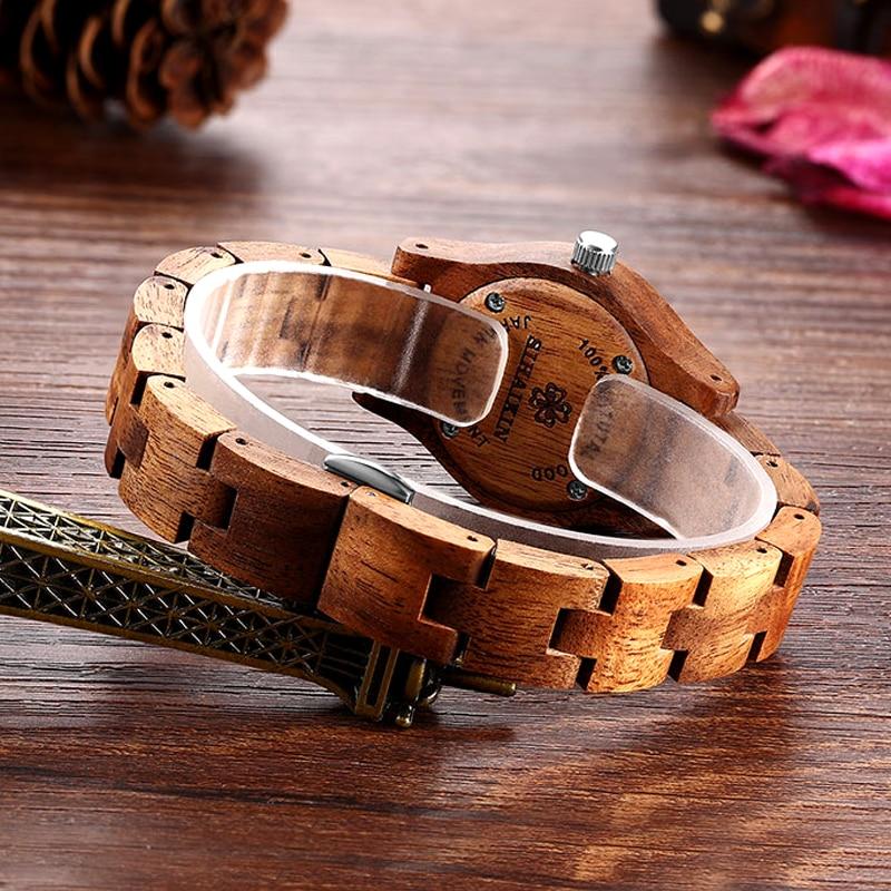 New Design Women Brown Wooden Watch Luxury Brand Top Gift 4