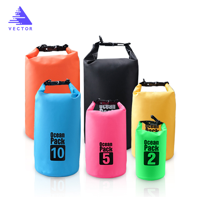Ultralight Swimming Bag Dry 5L 10L 20L  Outdoor Nylon Kayaking Storage Drifting Waterproof Rafting Bag 6 Colors