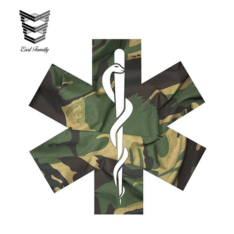 Auriculares 12 cm x 12 cm camuflaje EMS estrella calcomanía estilo nuevo coche pegatinas vinilo adhesivo accesorios impermeables