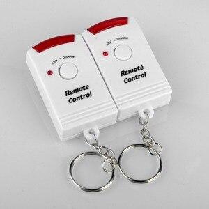 Image 5 - 2 Afstandsbediening Draadloze Home Security Pir Alert Infrarood Sensor Alarmsysteem Anti Diefstal Bewegingsmelder Alarm 105DB Sirene