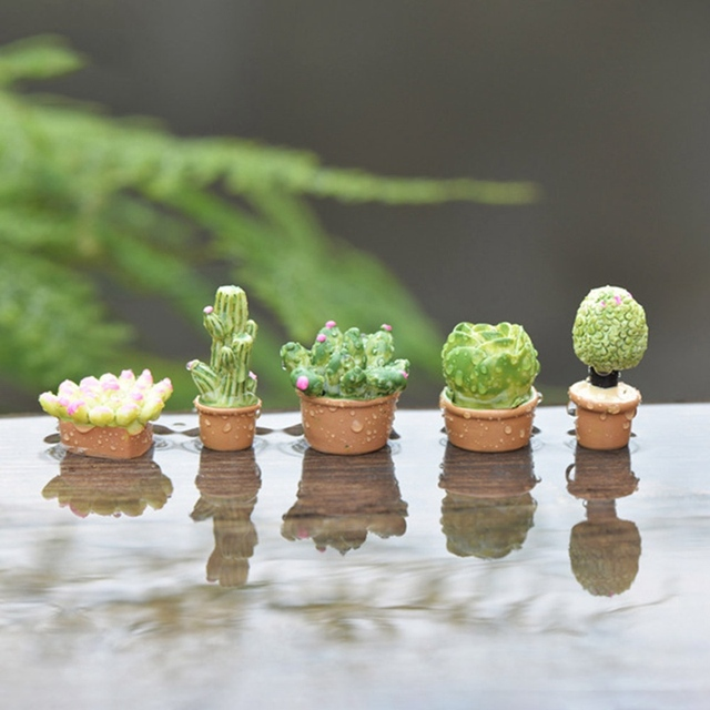 Decorative Miniature Green Plants for Doll House