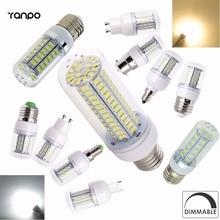Super Bright Dimmable E12 E14 E27 GU10 G9 B22 LED Corn Bulb SMD 5730/4014 Lamp 9W 12W 15W 35W Lighting Lamps Warm/Cool White Led