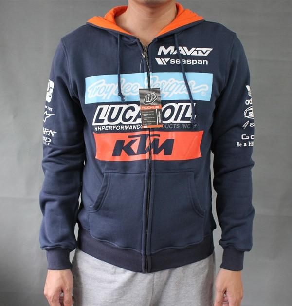 Troy Lee Designs Offroad MX Team KTM Windbreaker Zipped Hoody Navy Adults Navy