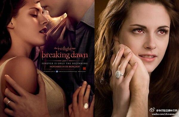 Breloque Vampire Twilight Bella cristal anneau réplique fiançailles bague de mariage 925 bijoux en argent cadeau saint valentin - 3