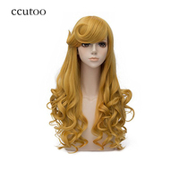 Ccutoo 30 Golden Long Culy Styled Bangs Synthetic Hair Wigs For Women S Cosplay