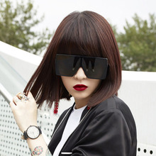 Oversized Square Sunglasses Women Flat Top Fashion Sun Glasses for Brand Shades Mirror Hiphop sunglasses men and women