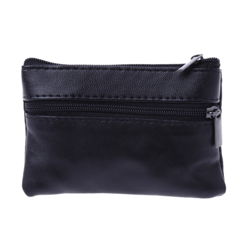 Soft Men Women Card Coin Key Holder Zip Leather Wallet Pouch Bag Purse Gift New