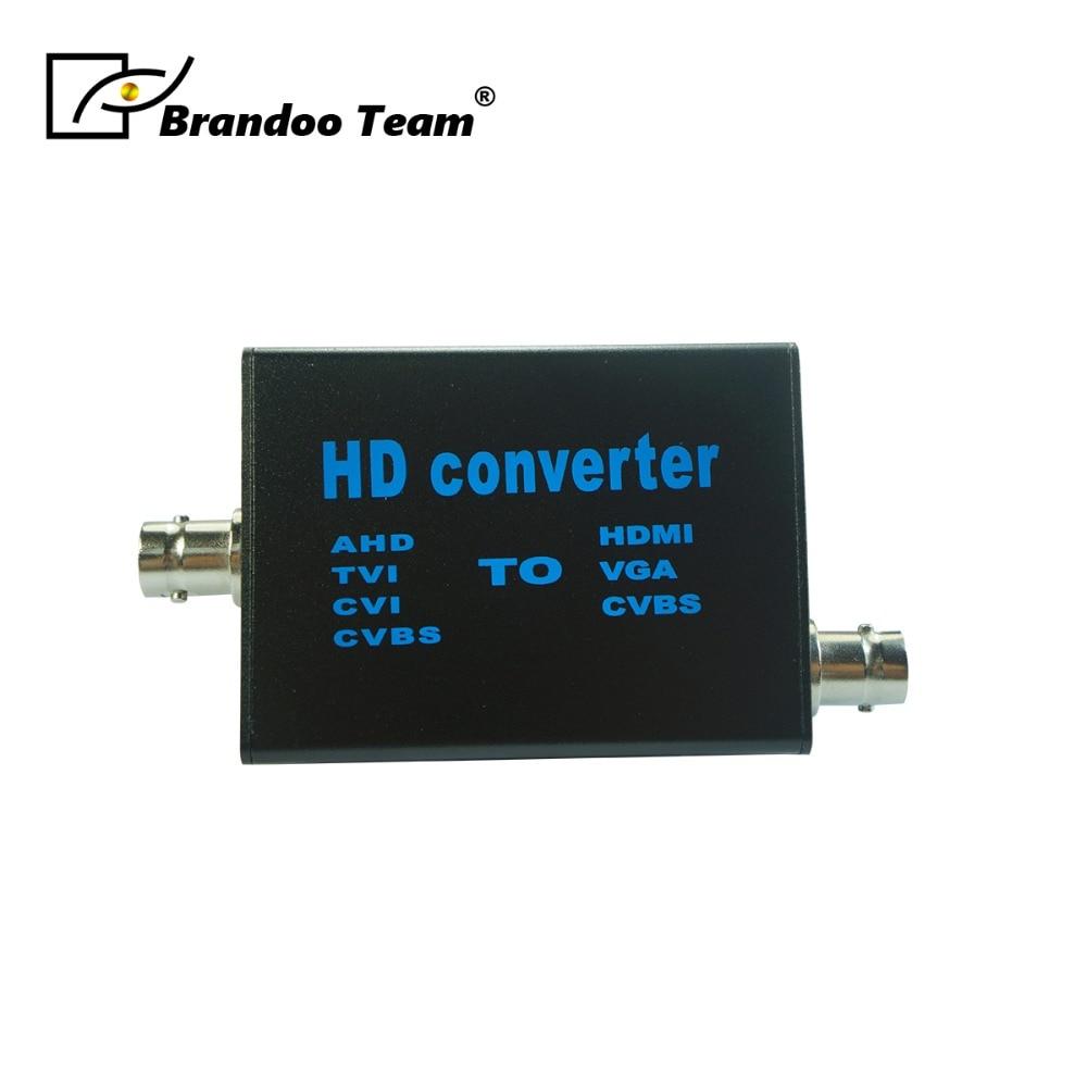 BRANDOO Auto Recognition Convertor, Convert AHD/TVI/CVI/CVB To /HDMI/CVBS/VGA Video Signal Convertor Model A2H