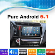 Pure Android 5.1.1 System Car DVD Player Autoradio Auto Radio Car Media Stereo for Honda City 2015