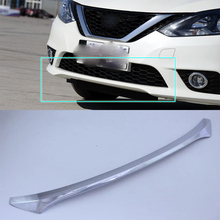 ABS Auto Styling Bright Style front bar plate Trim 1PCS / Set For Nissan sentra 2016