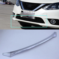 ABS Auto Styling Bright Style front bar plate Trim 1PCS / Set For For Nissan sentra 2016