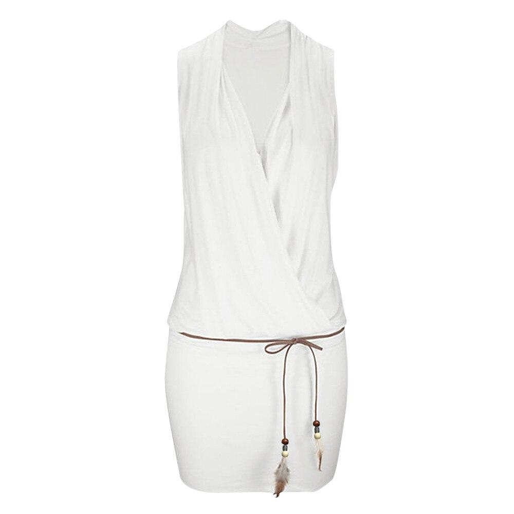 FREE OSTRICH Casual Womens Summer Dress Retro Party Beach Beach Sun Dress Office Lady V-neck Sleeveless Loose Workwear