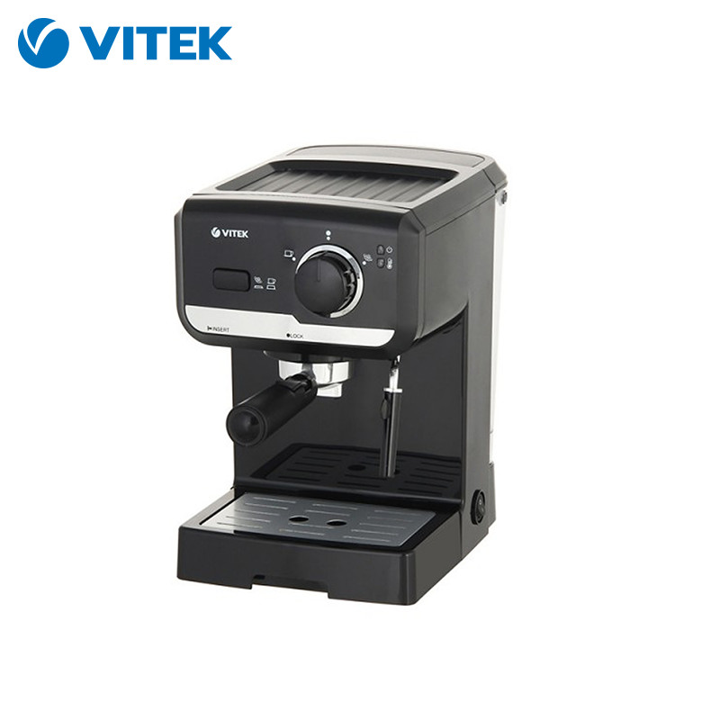 Coffee Maker Vitek VT-1502 BK coffee machine coffee makers maker espresso cappuccino electric Horn non stick electric fish cake grill machine waffle cookie machine taiyaki maker machine