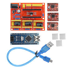 CNC Shield V4 + Nano 3.0 Board + A4988 3-axis Stepper Motor Driver with 1pc USB cable For-arduino(China)