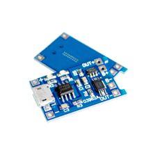 100 pces tp4056 tc4056 tipo c/micro/mini usb 5 v 1a 18650 módulo carregador de bateria de lítio placa de carregamento funções duplas li ion