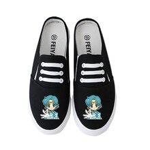 Kawaii Anime Sailor Moon/Sailor Neptune Womens Cute Cartoon Print Fashion Low to Help Comfortable Soft Non-slip Shoes A193151