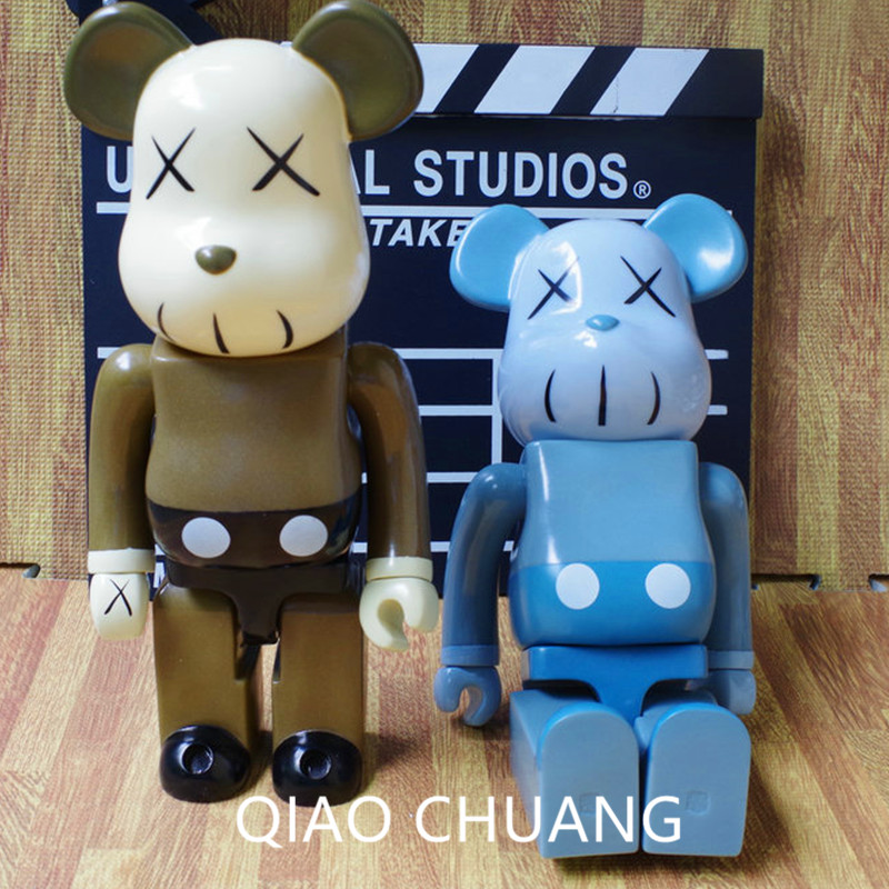 27CM KAWS OriginalFake Be@rBrick BFF Brian Street Art Action Figure Collectible Model Toy Vinyl Fashion Gift OPP Bag S210 hot selling oversize 1000% bearbrick luxury lady ch be rbrick medicom toy 52cm zy503
