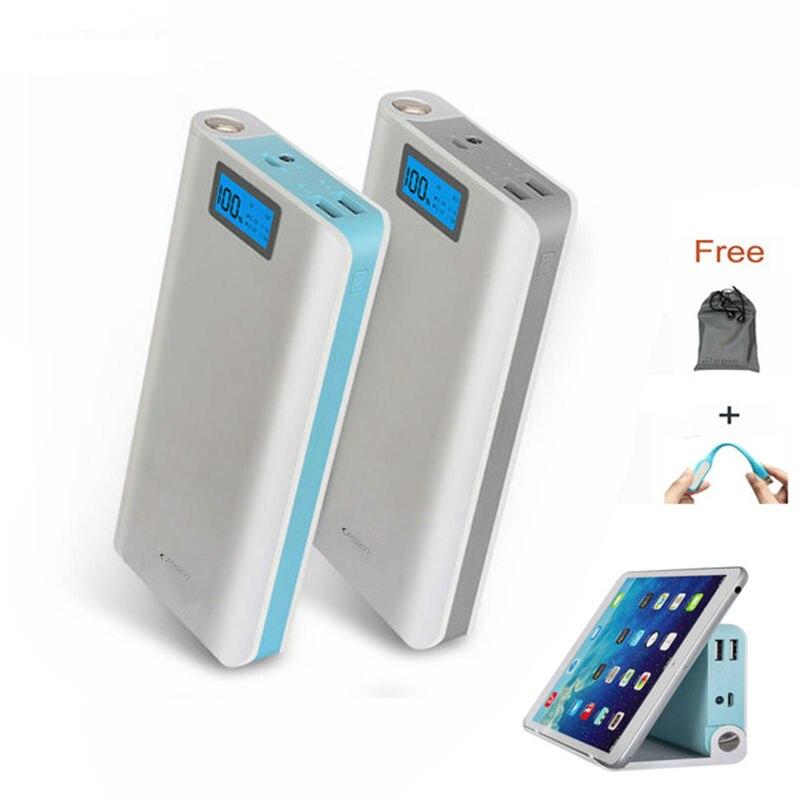 imágenes para Universal 18650 20000 mAh Banco de la Energía de Carga Portátil Dual USB LCD Batería externa del Banco 20000 mah para xiaomi iphone 6 7 soporte