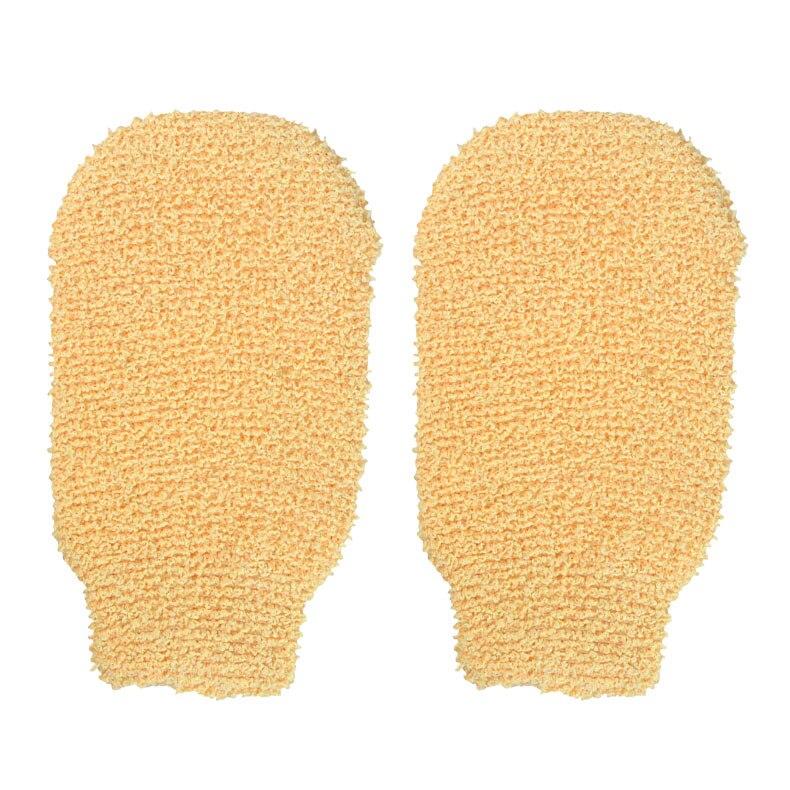 2 Pcs Exfoliating Natural Hemp Bathroom Towels Cuozao Rubbing Massager Glove Bathing Towels