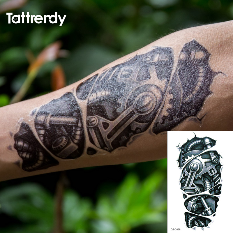 Popular men arms buy cheap men arms lots from china men for Black temporary tattoo