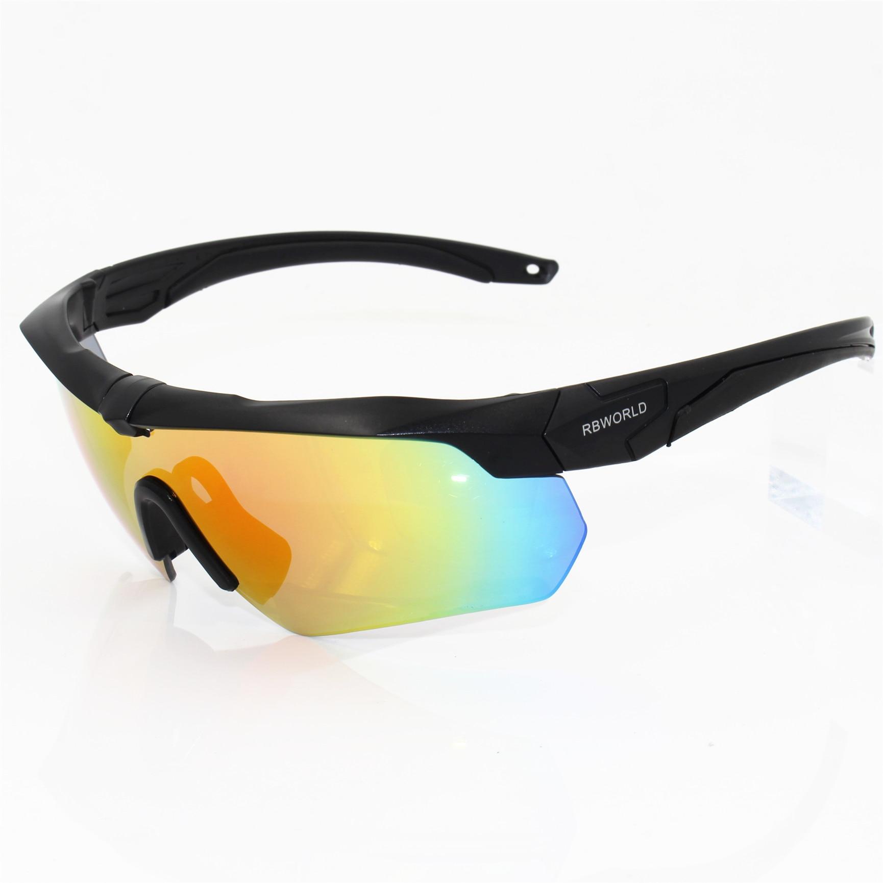 c96a61c245 Polarizada de alta calidad gafas de sol TR90 militar gafas 5 lente bala  prueba ejército táctico gafas de tiro gafas en Gafas de ciclismo de  Deportes y ocio ...