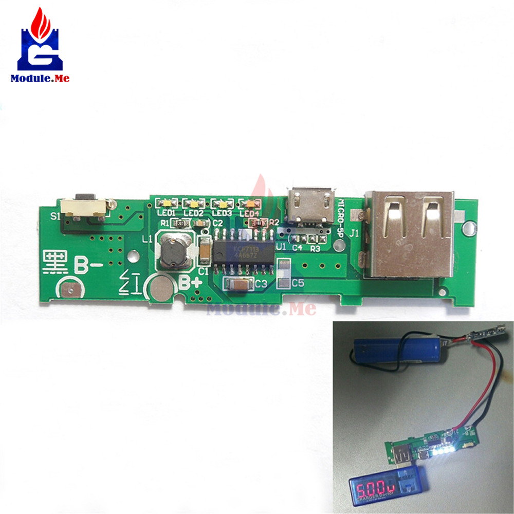 Mobile Power Bank Charger Double Usb 5v 21a 1a Lcd Display Module Copper Clad Boards 10x15cm 100x150x12mm High Quality For Circuit Pcb Charging Board Step Up Boost Xiaomi