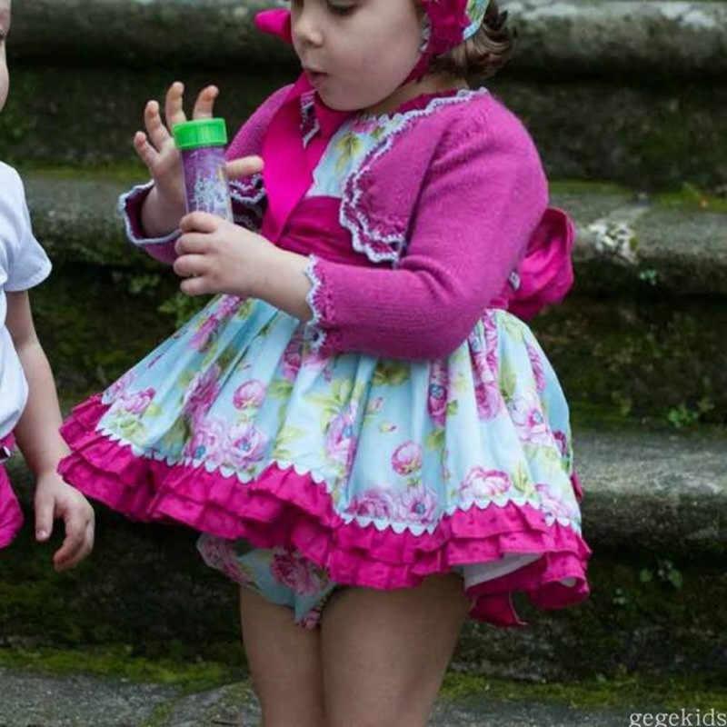 ... sobre Los niños de la flor vestido de Otoño de 2019 vestidos de niñas  de Color rosa de estilo español princesa vestidos de fiesta para Niñas Ropa  de ... 99f9ffa456ca