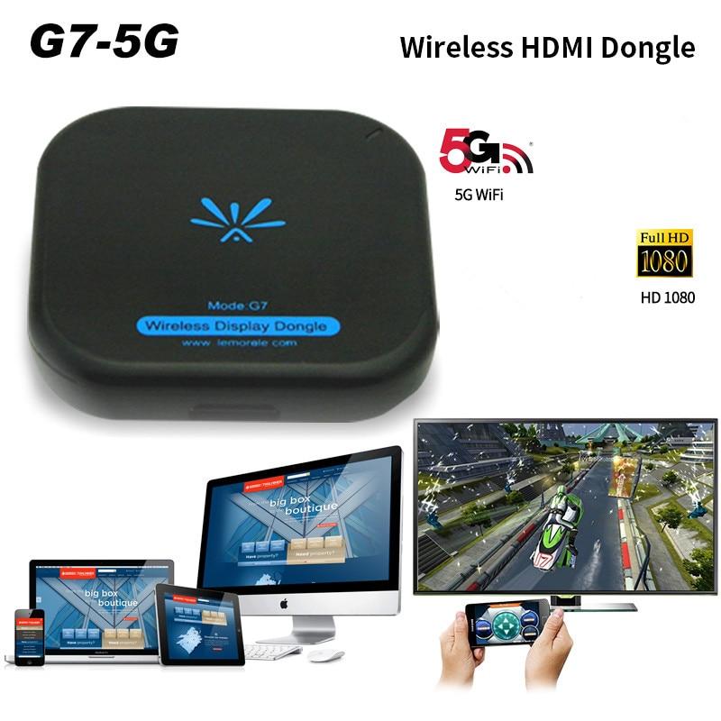 Nueva TV Stick Mirascreen G7 5 Ghz de alta velocidad WiFi Display TV Dongle  soporte Miracast Airplay