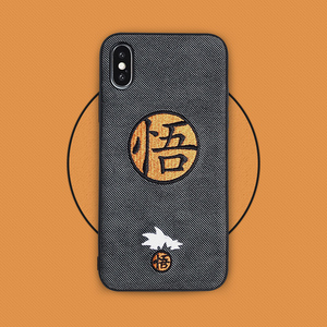 Japan Cartoon Anime Embroidery Goku Phone Cover Case For Iphone X 11 pro Xs Max Xr 10 8 7 6 6s Plus Soft Silicone Coque Fundas(China)