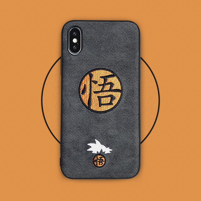 Anime Embroidery Goku Phone Cover For Iphone