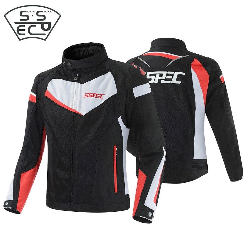 Veste de Moto SSPEC veste de course de Moto respirante veste de Moto de protection de Motocross veste de Moto d'été en maille
