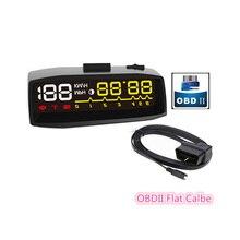 2017 Más Reciente 4F Car HUD Head Up Display OBD2 II Manual interruptor de HUD KM/h MPH Sobrevelocidad Advertencia Parabrisas Proyector Sistema de Alarma Que