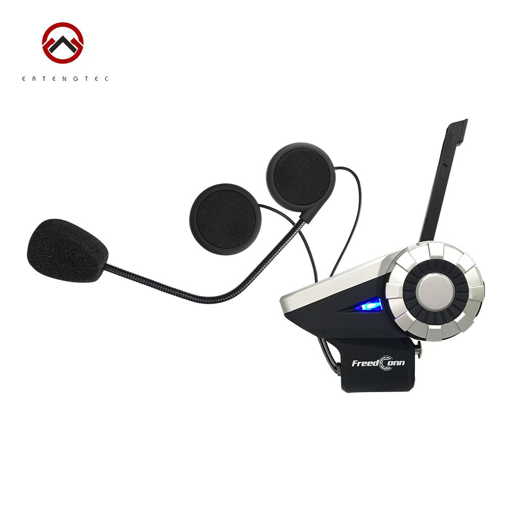 Bluetooth Helmet Intercom T-Rex 8 Riders Waterproof Full Duplex Motorcycle Group Talk System 1500M BT Interphone Headset With FM free shipping czh618f 100c 100w 2u fm stereo radio transmitter exciter power adjustable from 0 to 100w