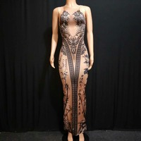 Coloful 3D Printing Nightclub Sexy Stage Bodysuit Outfit Stage Dance Women Costume Singer Birthday Dance Wear Ds Sexy Clothes