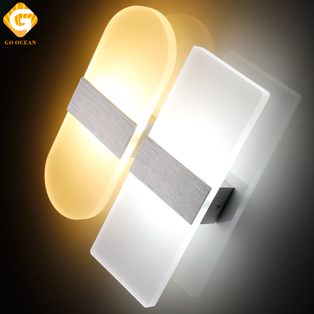 Wall Lights Modern Sconce Fixtures LED Acrylic Wall Lamp Bedroom Home Lighting Exhibition Loft Decor Mural Bathroom Wall Light