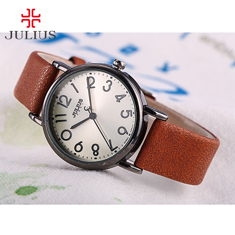 Julius Lady Women's Watch Japan Quartz Unisex Hours Fashion Dress Bracelet Leather Retro Simple Valentine Girl Birthday Gift new simple cutting glass women s watch japan quartz hours fashion dress stainless steel bracelet birthday girl gift julius box
