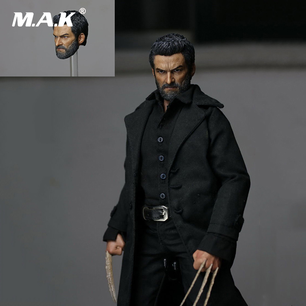 1:6 Scale Male Head Wolverine Head Sculpt Old Hugh Jackman Logan X-men For 12'' Action Figure Body 1 6 scale wolverine 3 hugh logan head sculpt clone version with short hair for 12 inches male bodies dolls figures gifts toy