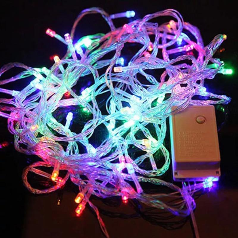 110v 10m 100 Led Multicolor String Decoration Light For Christmas Holiday Wedding Light